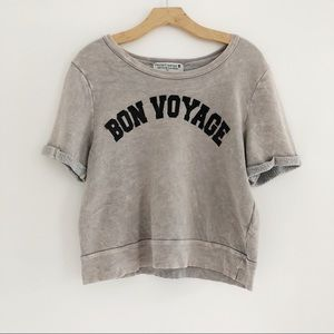 Project Social T Bon Voyage Cropped Pullover
